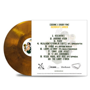 CODENINE_GRUBBY-PAWZ_AUERBACH'S_GARDEN_BACK_Transparent_Orange_with_black-smoke_VINYL