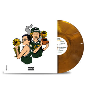 CODENINE_GRUBBY-PAWZ_AUERBACH'S_GARDEN_Transparent_Orange_with_black_smoke_FRONT_VINYL