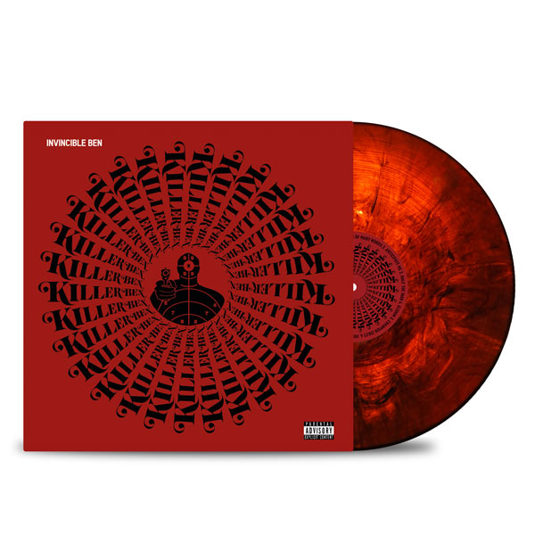 Killer_Ben_Twiz_The_Beatpro_Invincible_Ben_FRONT_Side_Cover_RED_IN_Dark_Translucent_RED_Vinyl_LP