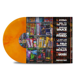 Sauce_Heist_Spanish_Ran_Spanish_Sauce_BACK_Side_Cover_Yellow With Red Smoke_Vinyl_LP