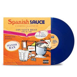 Sauce_Heist_Spanish_Ran_Spanish_Sauce_FRONT_Side_Cover_Transparent_Blue_Vinyl_LP