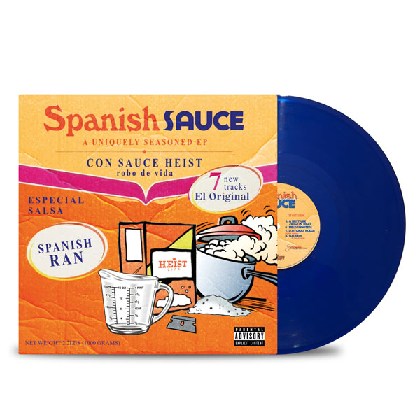 Sauce_Heist_Spanish_Ran_Spanish_Sauce_FRONT_Side_Cover_Transparent_Blue_Vinyl_LP