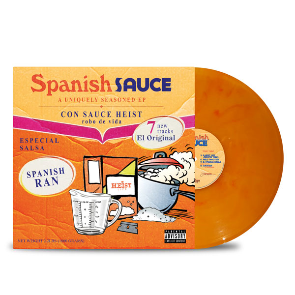 Sauce_Heist_Spanish_Ran_Spanish_Sauce_FRONT_Side_Cover_Yellow With Red Smoke_Vinyl_LP