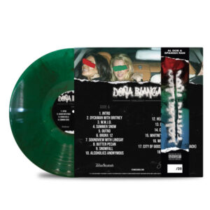 AL_DOE_SPANISH_RAN_DONA_BLANCA_TRILOGY_BACK_Side_Cover_TRANSPARENT_GREEN_WITH_BLACK_SMOKE_DONA_STRIP_Vinyl_LP