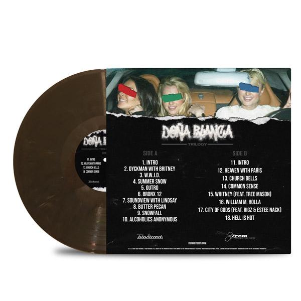 AL_DOE_SPANISH_RAN_DONA_BLANCA_TRILOGY_BACK_Side_Cover_GREY_MARBLED_Vinyl_LP
