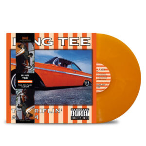 KING_TEE_THA_TRIFLIN_ALBUM_FRONT_Side_Cover_Transparent_Orange_White_Smoke_Triflin_Strip_Vinyl_LP