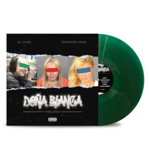 AL_DOE_SPANISH_RAN_DONA_BLANCA_TRILOGY_FRONT_Side_Cover_TRANSPARENT_GREEN_WITH_BLACK_SMOKE_Vinyl_LP