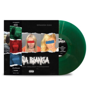 AL_DOE_SPANISH_RAN_DONA_BLANCA_TRILOGY_FRONT_Side_Cover_TRANSPARENT_GREEN_WITH_BLACK_SMOKE_DONA_STRIP_Vinyl_LP