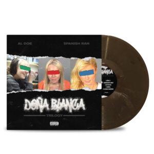 AL_DOE_SPANISH_RAN_DONA_BLANCA_TRILOGY_FRONT_Side_Cover_GREY_MARBLED_Vinyl_LP