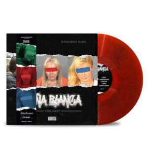AL_DOE_SPANISH_RAN_DONA_BLANCA_TRILOGY_FRONT_Side_Cover_TRANSPARENT_RED_WITH_BLACK_SMOKE_DONA_STRIP_Vinyl_LP