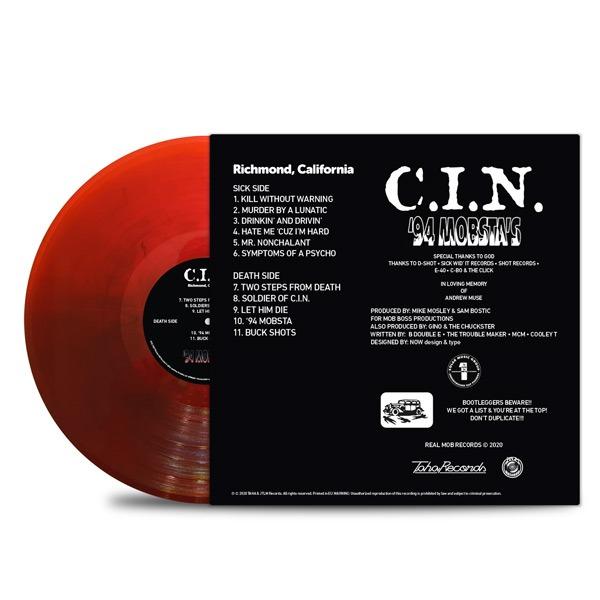 C.I.N.-'94_Mobsta's_Back_Cover_Transparent_Red_Black_Smoke_Vinyl