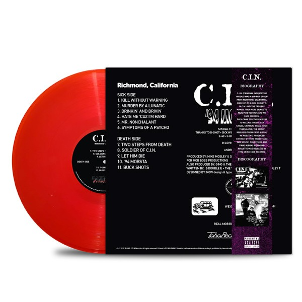 C.I.N. - '94_Mobsta's_Back_Cover_Transparent_Red_Vinyl_Obi_Strip