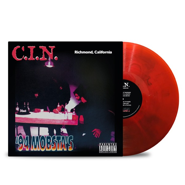 C.I.N.-'94_Mobsta's_Front_Cover_Transparent_Red_Black_Smoke_Vinyl