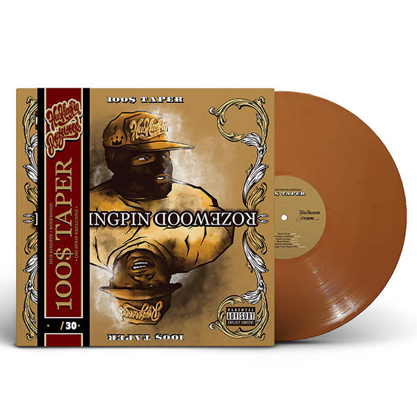 hus_kingpin-rozewood_100_taper_brown_vinyl_obi_strip_front_cover