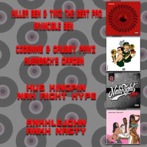 Bundle │ Killer Ben & Twiz The Beat Pro - Invincible Ben Vinyl LP │ Codenine & Grubby Pawz - Auerbach's Garden Vinyl LP │ Hus Kingpin - Nah Right Hype 2 LP Vinyl │ Ankhlejohn - Ankh Nasty