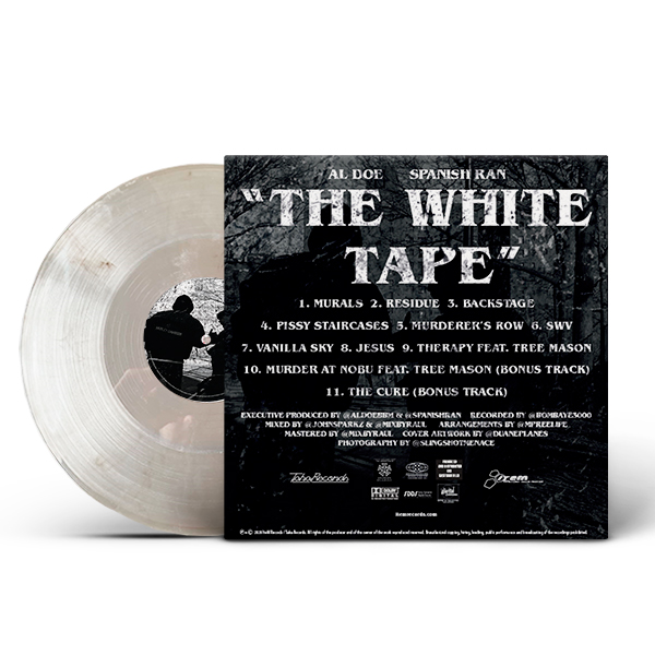 al_doe_spanish_ran-white_tape_clear_with_black_marbled_back_cover