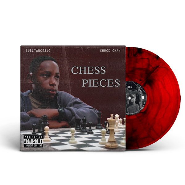 Substance_810_Chuck_Chan_chess_pieces_front_cover_red_vinyl_black_marbled